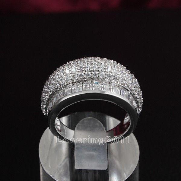 Виктория Wieck горячий бренд мода ювелирные изделия белый Топаз драгоценные камни CZ Алмаз 10kt белого золота заполнены свадебные женщины кольцо набор для любви подарок