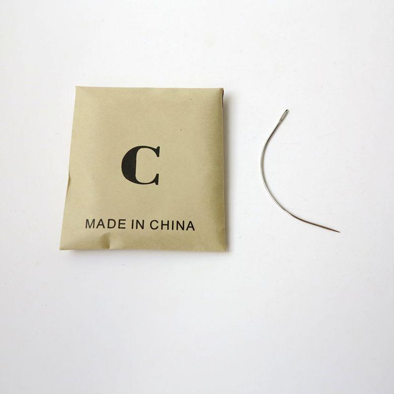 12 unids / bolsa agujas hilo de tejer agujas de coser de acero inoxidable para tejer extensiones de cabello estilo diferente