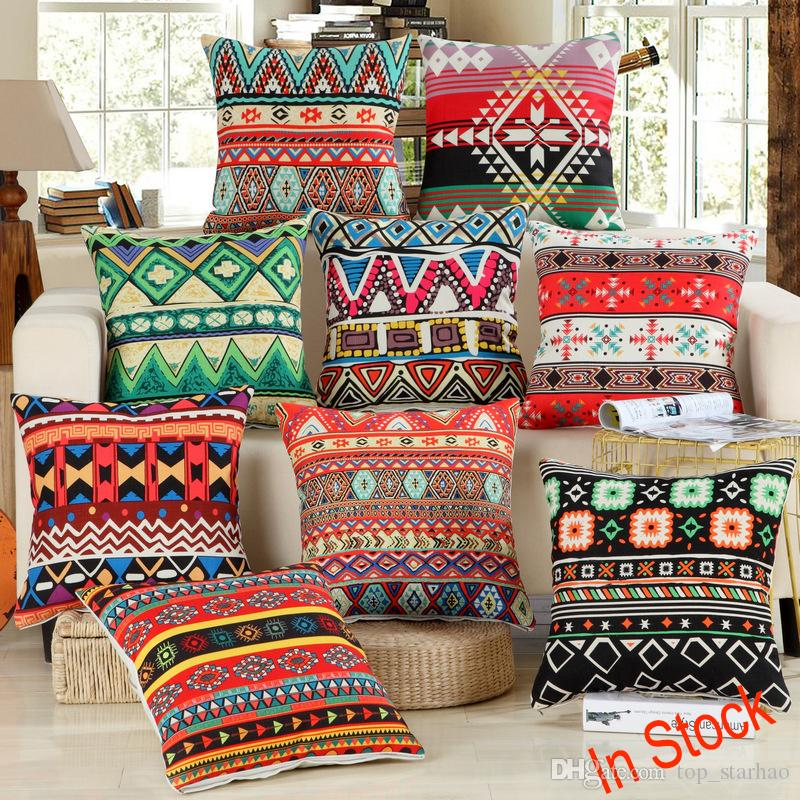 40 New Retro Vintage Printed Pillow Case Covers Hand Crafted Simple Native American Decorative Pillows