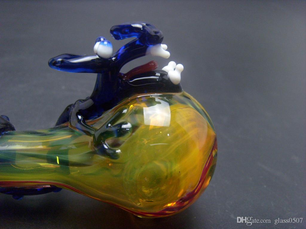Недавно выпущенные курительные трубки Mushu Стеклянные трубки Анимированный дракон, моделирующий стеклянные курительные трубки оптом, низкая цена