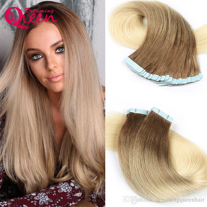8tape In Human Hair Extensions 100 Virgin Human Hair Brazilian