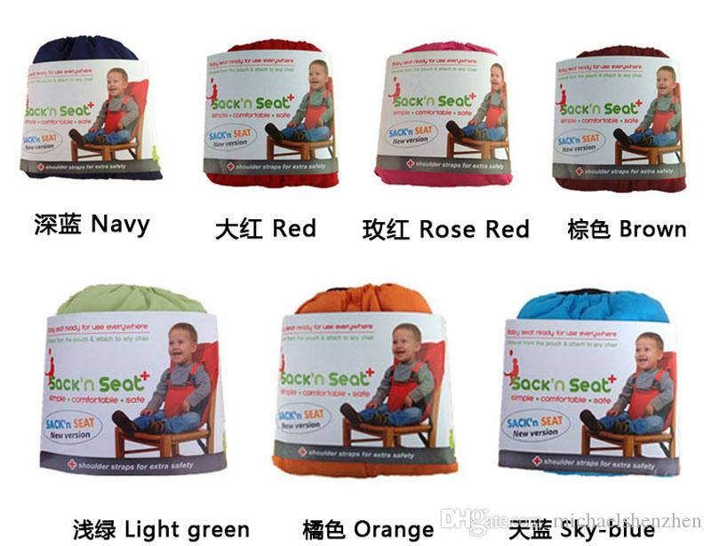 baby Portable Seat Cover Sack'n Seat Kids Safety Seat Cover Baby Upgrate Candy colors Eat Chair Seat Belt Outlet Covers B001