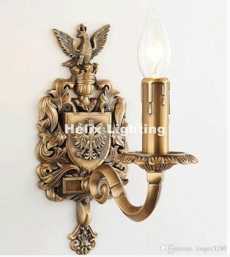 Frete Grátis W11cm H24cm Antique Brass E14 CONDUZIU a Lâmpada de Parede Sala de estar Luz Da Parede Lamparas de pared applique murale Luminária
