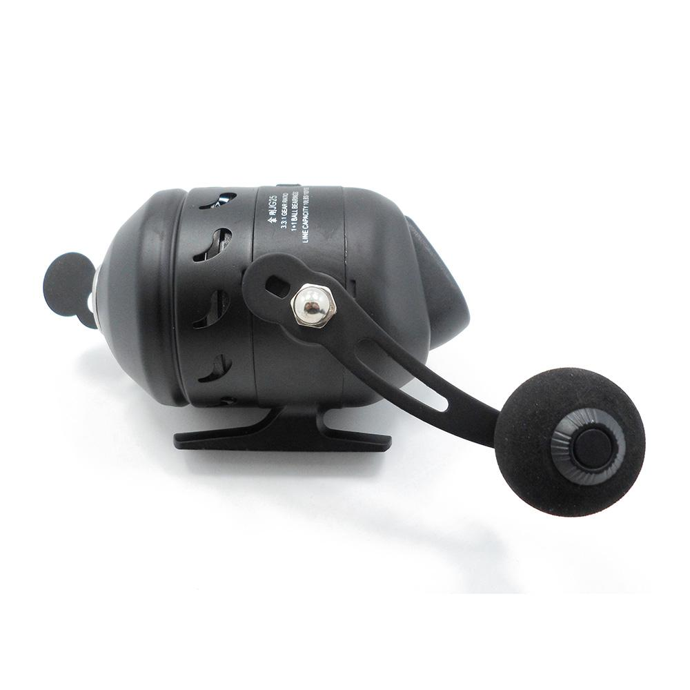Metal Fishing Spincast Reel Gear Ratio 3.3:1 Right/Left handed for Compound Bow Slingshot