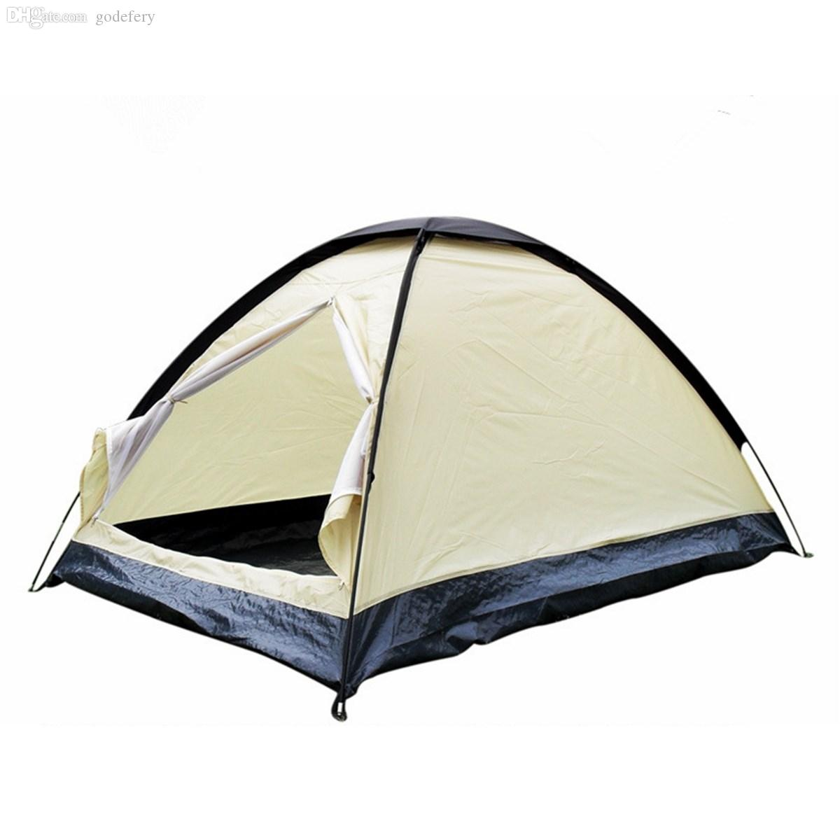 Wholesale Rainproof Polyester Ultralight 2 Person UV Protection Outdoor Travel C&ing Hiking Dome Tent Single Layer Beach Shelter Tent Cheap Tents For ...  sc 1 st  DHgate.com & Wholesale Rainproof Polyester Ultralight 2 Person UV Protection ...