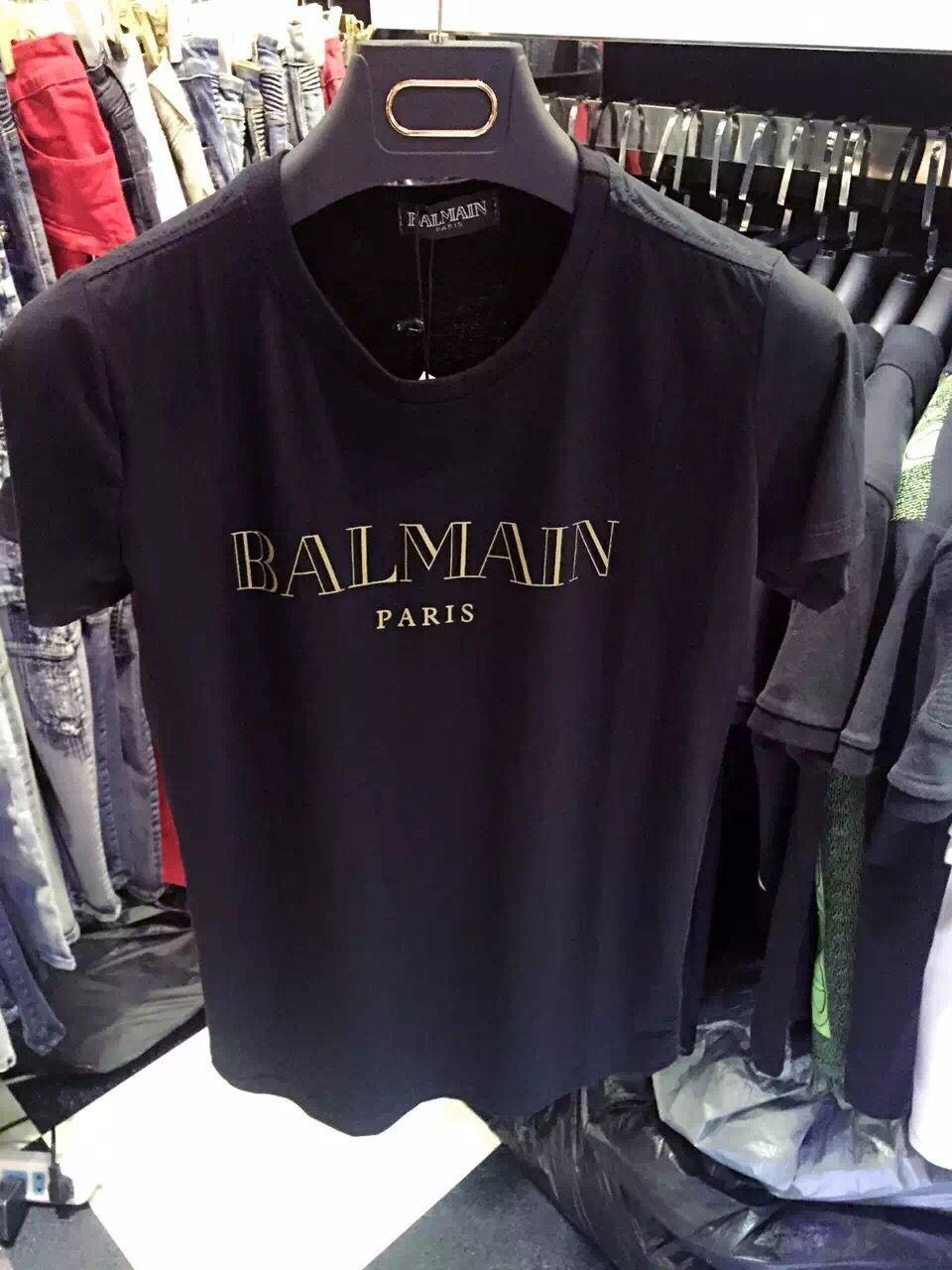 Hot New Men Men'S Short Sleeved T Shirt Balmain Paris Top Good ...