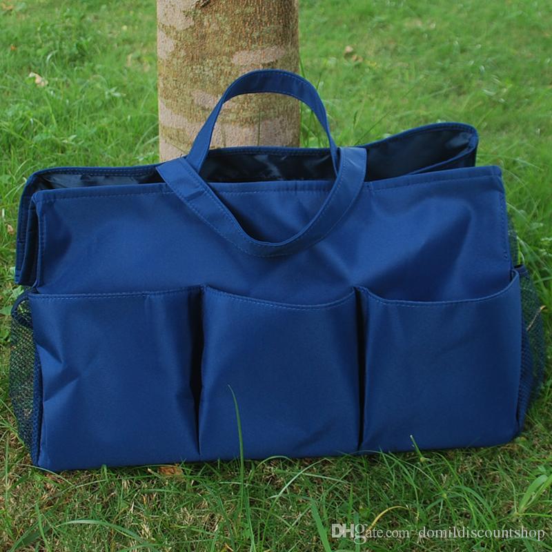 Großhandel Rohlinge Plain Polyester Große Garten Tote Utility Tote Bag Garten Werkzeugtaschen in vielen Farben DOM103307