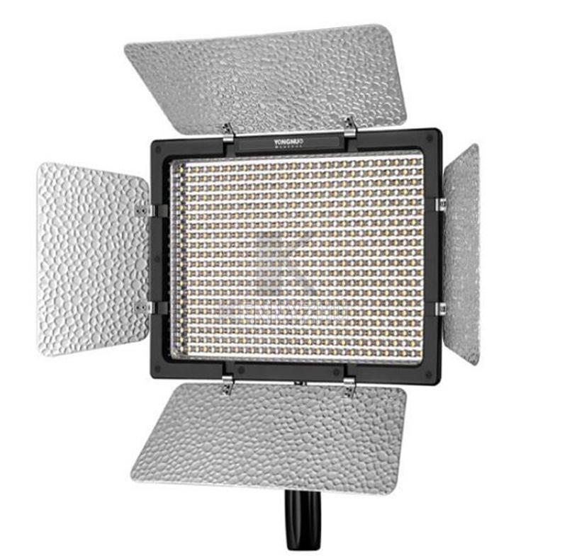 Kit di illuminazione da studio 3 pezzi Yongnuo YN600L II 3200-5500K Bi-color 600 LED Video Light Panel + Alimentatore + 2m Stand + Boom Arm + Borsa da trasporto
