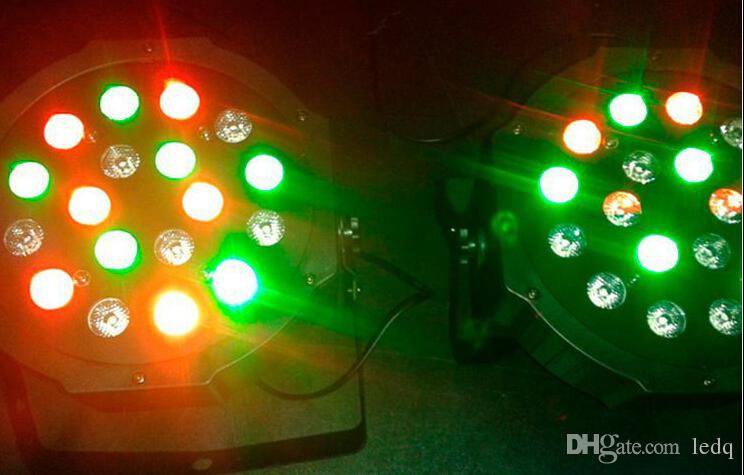 18 Вт светодиодный эффект света RGB 18 светодиодов беспроводной DMX 512 этап лампа Lampara 7CH Ratoting DJ Par огни DMX ЖК-дисплей для KTV Party Bar освещение