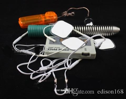 Shock Therapy Massager Stick Machine med vibrerande äggvibrator Electro Sex Kit E-Stimulation BDSM Adult Sex Games Toy Product