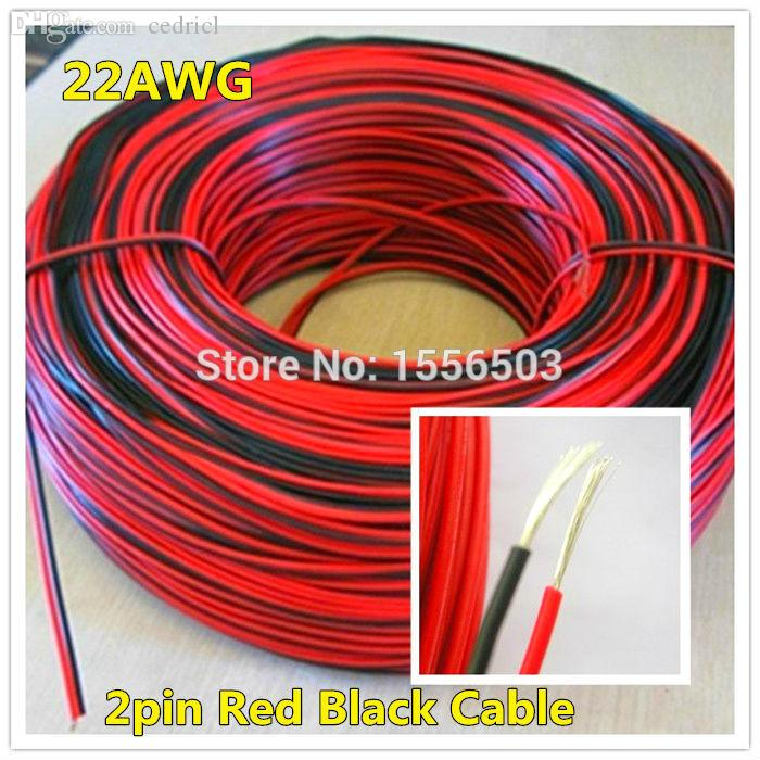 Wholesale-1 Meter Electrical Wire Tinned Copper 2 Pin AWG 22 ...