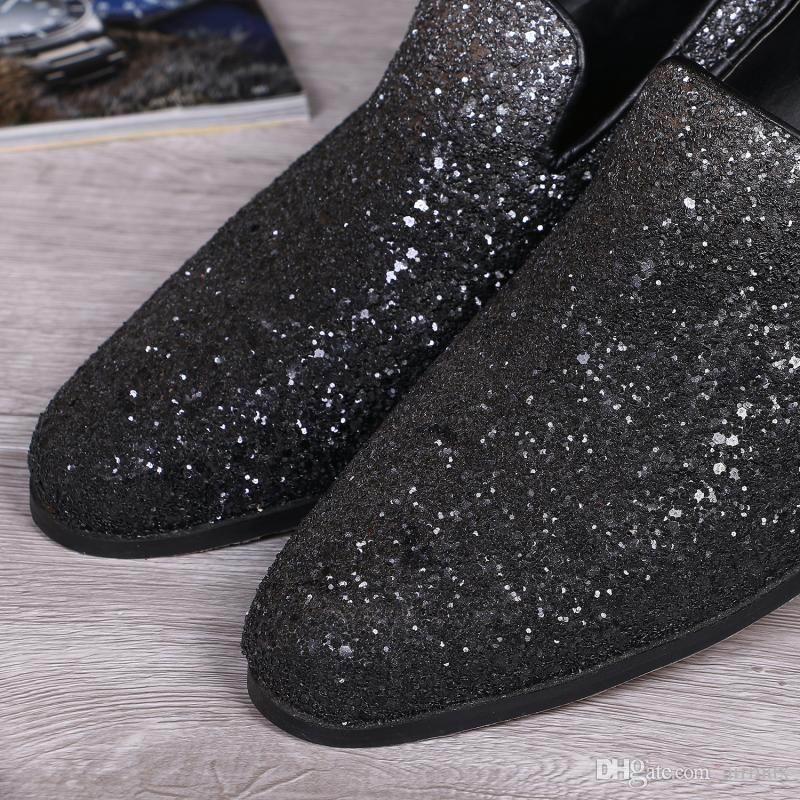 Vente chaude Hommes D'affaires Loisirs Mocassins Chaussures Designer Britannique Bout Rond Slip Sur Les Chaussures En Cuir Pour Hommes Chaussures Plates 38-46