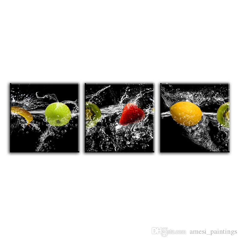 Canvas Painting Art Fruit Oil Painting Modern Canvas Oil Painting Fruits And Water Picture Decor for Dining Room