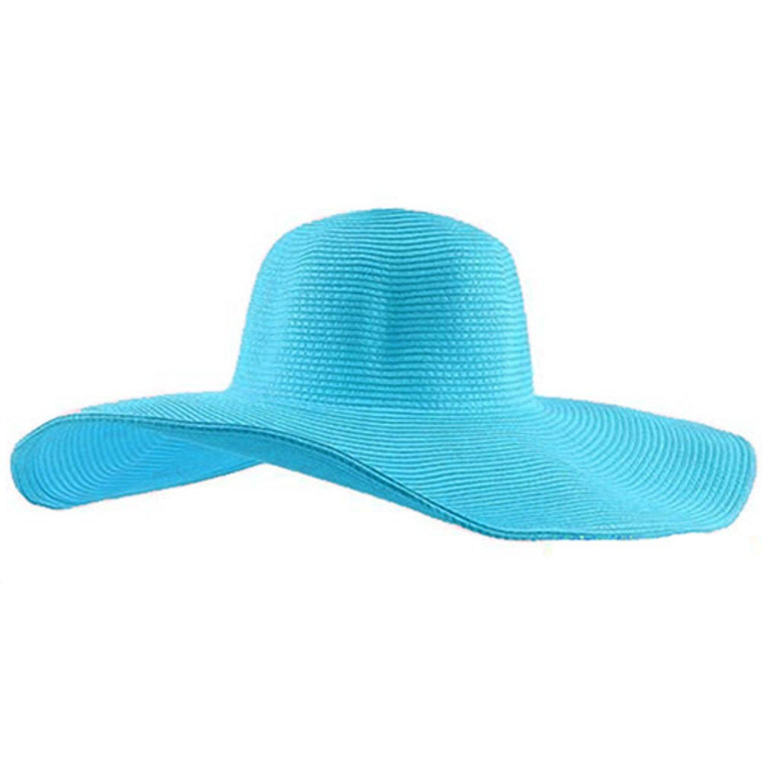 Wholesale Women Cute Summer Straw Beach Hat Wide Large Brim Foldable Sun Hat  Dark Blue Tilley Hats Mens Hats From Newcollection 984ee5258d7