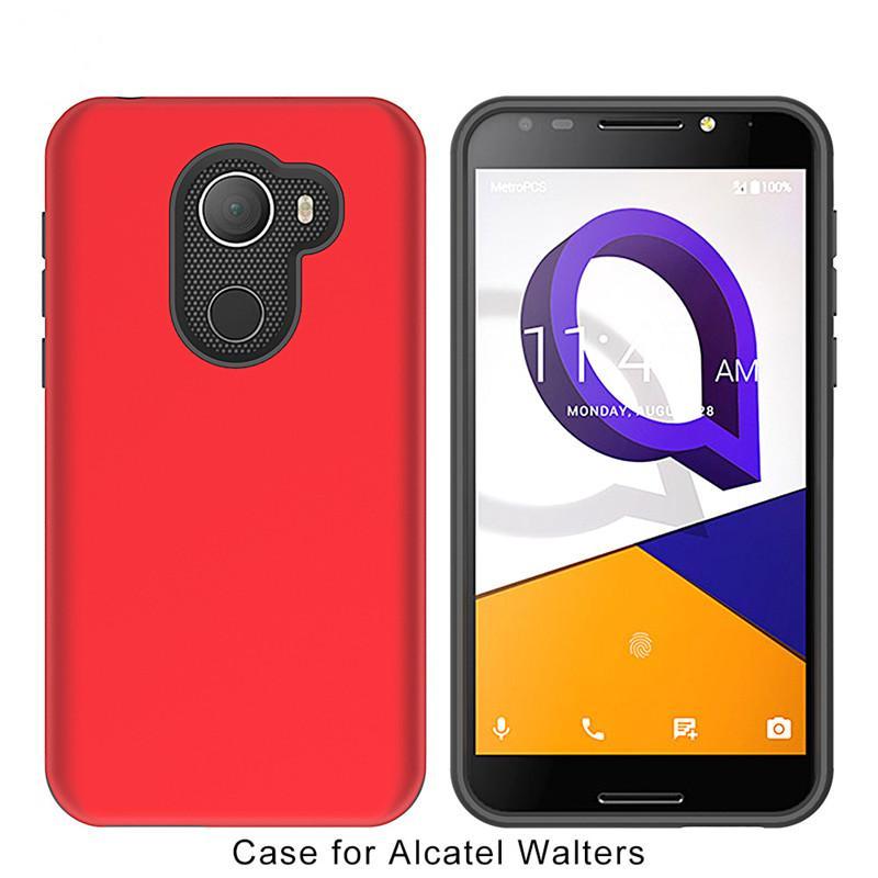 For Alcatel A30 Fierce Metropcs walters RVVL For LG Aristo Metropcs HTC  Galaxy J3 2017 J3 Emerge J327P Armor Hybrid wrapped Case