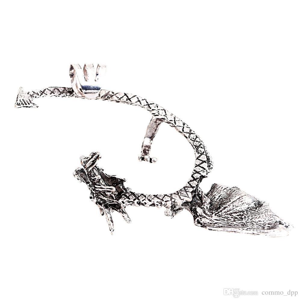 Mode métal clip oreille manchette stud femmes style punk wrap dragon boucle d'oreille pas de trou d'oreille pour girlladies bijoux