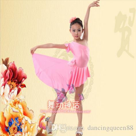2018 Latin Ballroom Dancing Dresses Purple / Red / Pink Dress To Dance For Girls XS-XXXS Dance Dress Tango Vestido De Franja Dancewear Dress