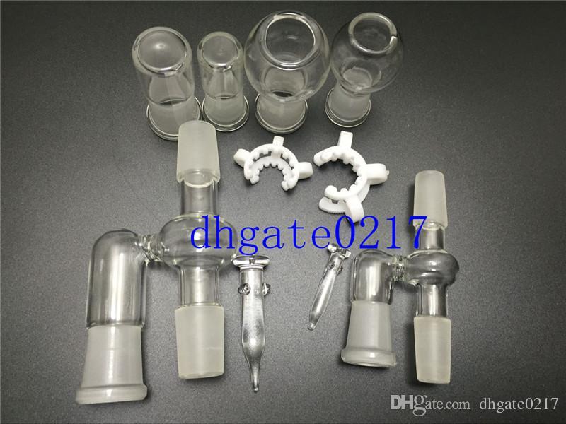 Adaptateur en verre pour récupérateur d'huile 14mm 18mm pour conduites d'eau en verre de bong
