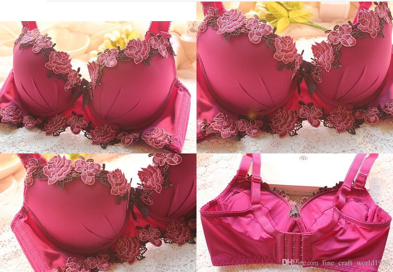 neue Sexy Marke Bh set und Frauen Unterwäsche Set floral büstenhalter drücken bh set mode stil bh kurze sätze plus größe