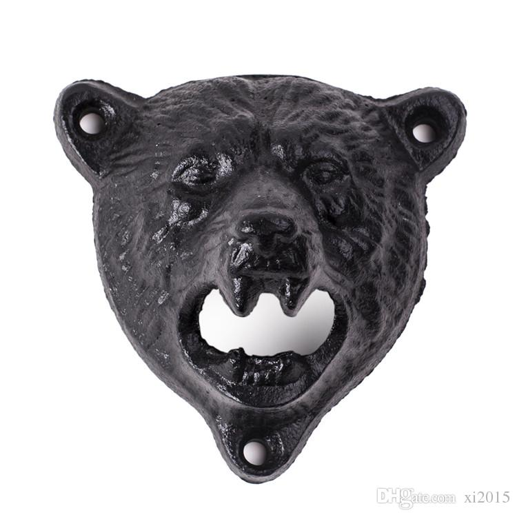 by DHL or EMS cast iron bear shaped hang wall mounted opener bottle