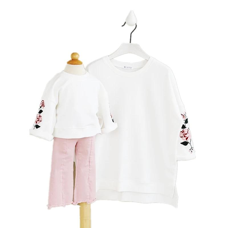 Mother and Daughter Clothes 2017 New spring Family Look Shirts Family Matching Outfits Sweatshirts for Mom and Kids Hoodies