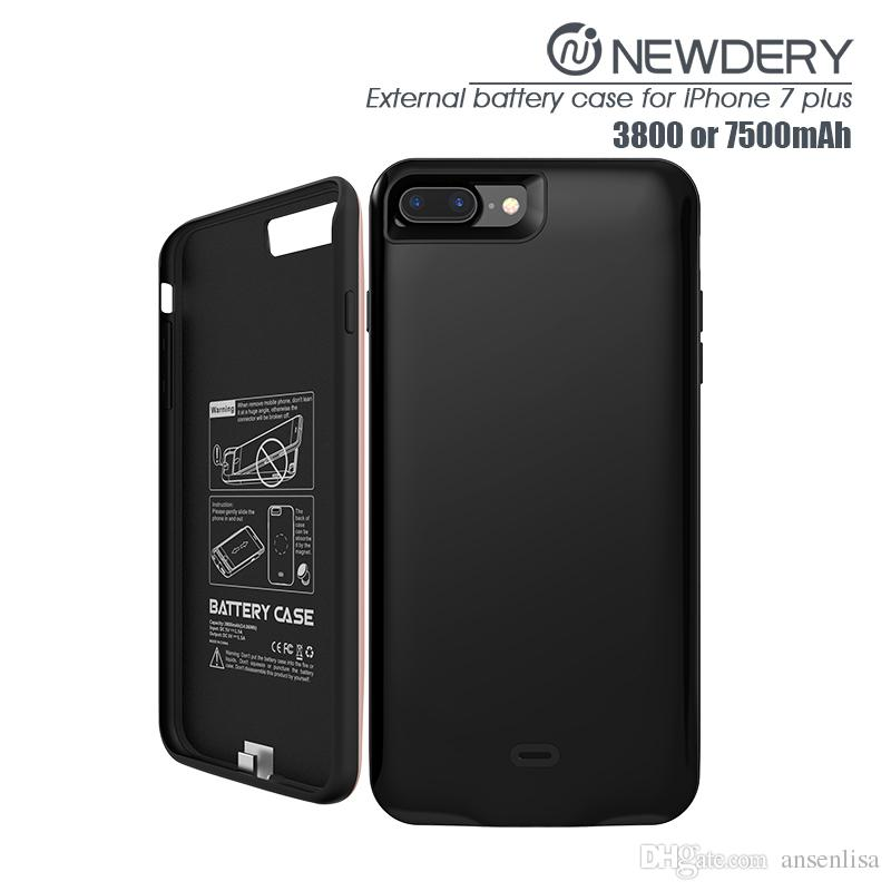 3800mah battery case for iphone 7 plus tpu+ABS phone cover case wireless charger case in stock