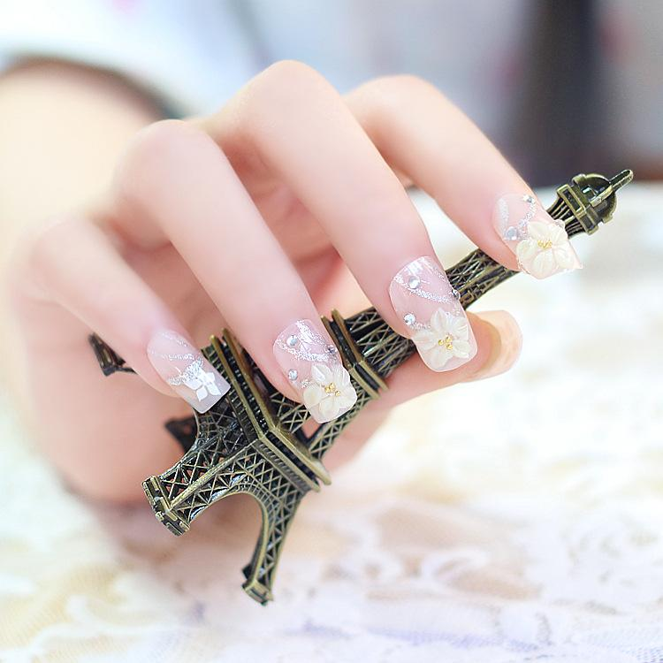 Fashion Elegant Style Square Head Nude Color Fake Nails Tips Short ...