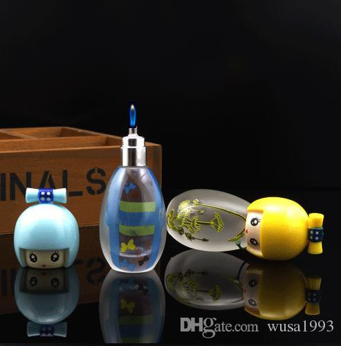 Mini portable frosted glass bottle warm fire small fire personality alcohol lamp, Water pipes, glass bongs, glass Hookahs, smoking pipe
