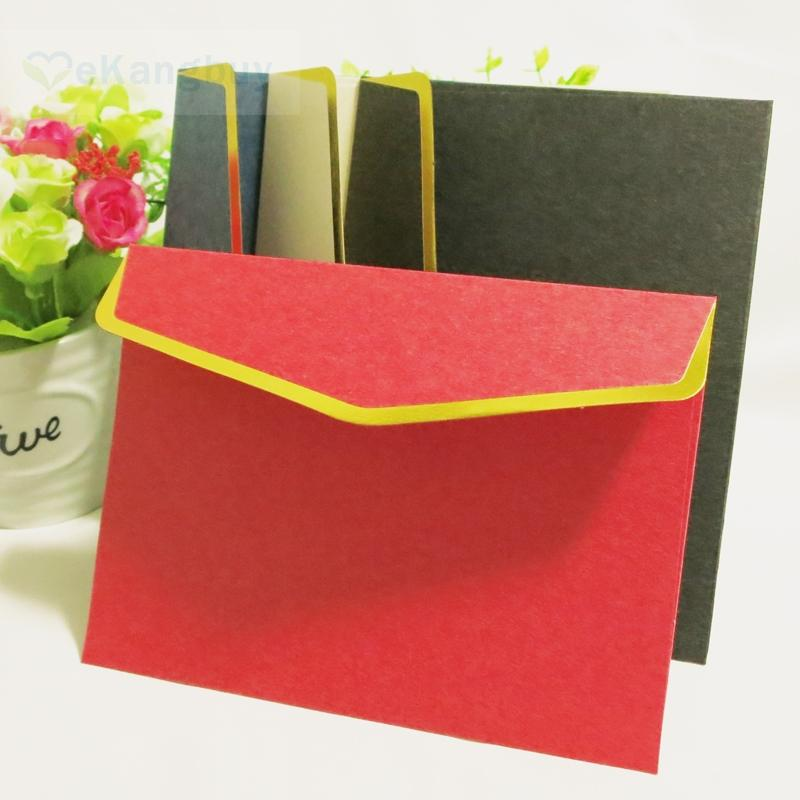 new arrival 16x12cm gold stamping specialty paper envelope for