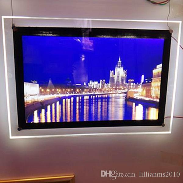 Ultra Thin Acrylic Frame LED Illuminated Shop Signs A4 Display Light Box