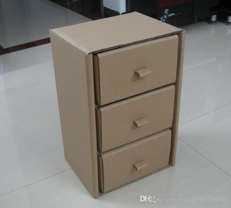 2019 Customize The Corrugated Cardboard Furniture Nightstand