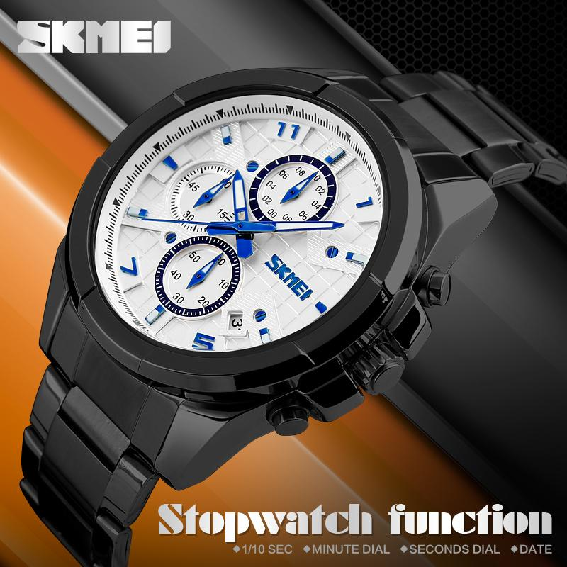 41f264f14de SKMEI Men Fashion Casual Watches Luxury Brand Quartz Watch Relogio  Masculino Mens Stainless Steel Reloj Para Hombre Wristwatch 9109 Cheapest Watches  Watches ...