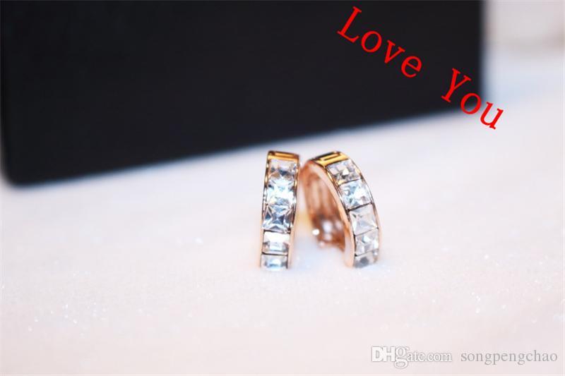 Hoop Earrings for Women Fashion Jewelry 18K Gold Plated Zircon Stud Earrings Party Accessories Vintage Small Earrings