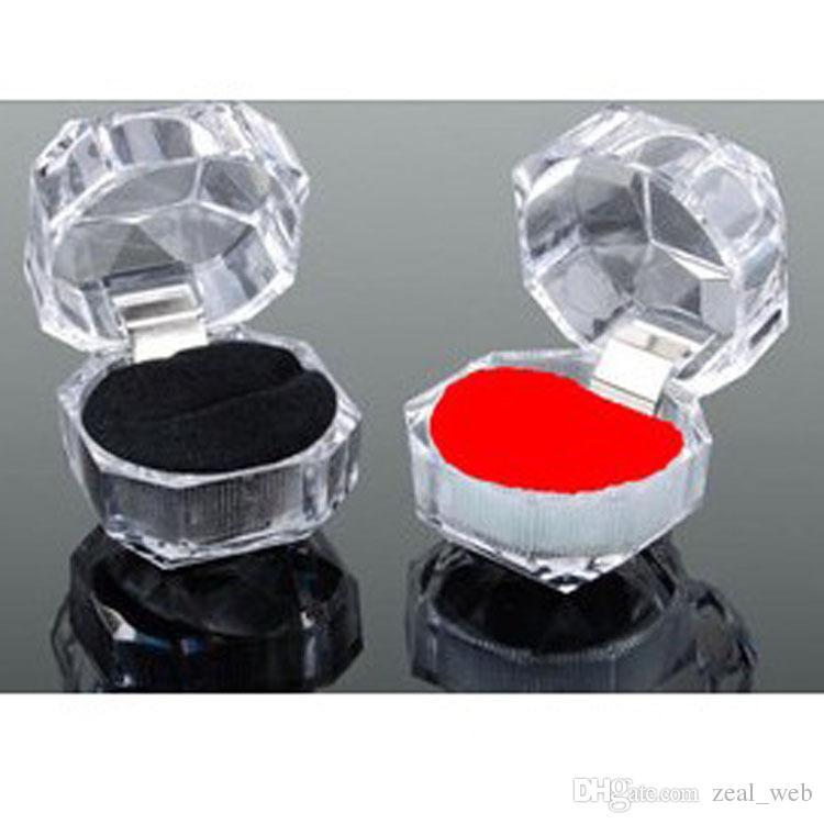2020 جديد الاكريليك شفاف خاتم الخطوبة صندوق عرض مجوهرات الأذن ترصيع حالة التخزين لخاتم الزفاف هدية عيد الحب منظم