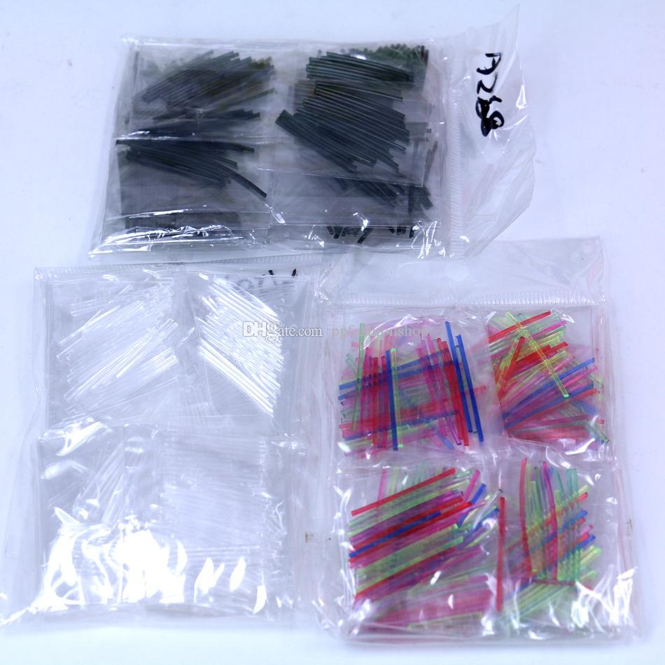 E1133 мужские и женские мини-простые противоаллергические серьги-вкладыши, пластиковые ушные палочки, прозрачная стерильная стерильная палочка оптом