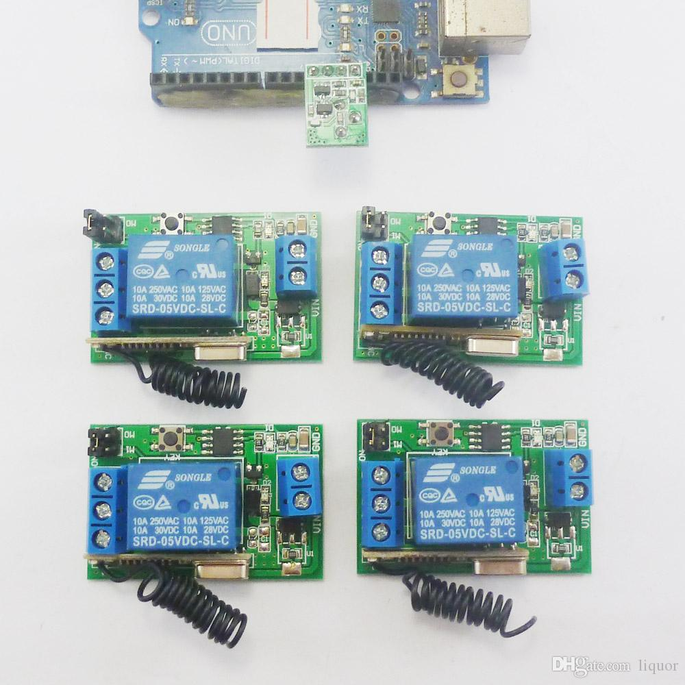 433m Transmitter Module 4 Wireless Relay Controller For Arduino Remote Controlled Toy Car Circuit With Transceiver Uno Mega2560 Dc 5v Control Delay Time Timer Online 3256 Piece On
