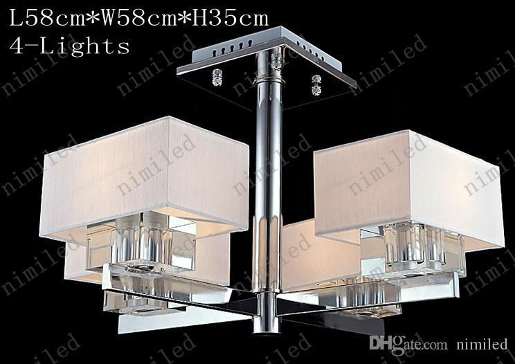 Nimi722 Minimalista Salón Lámpara de Techo Atmosférico LED Cristal Araña Dormitorio Restaurante Lámparas rectangulares Luces colgantes Iluminación