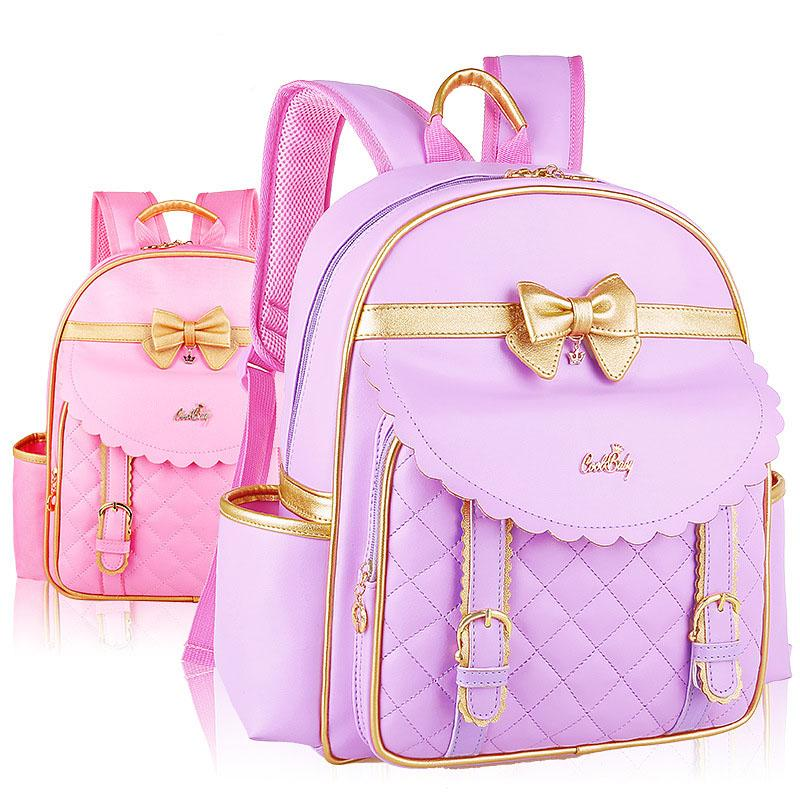5b38553de158 Big Small Bowknot Pattern Student Backpack Children Pupil School Bag Girl  Bags Nylon Or PU Leather Backpacks Kids Bookbag Bag KBB046 Cheap Handbags  Burton ...