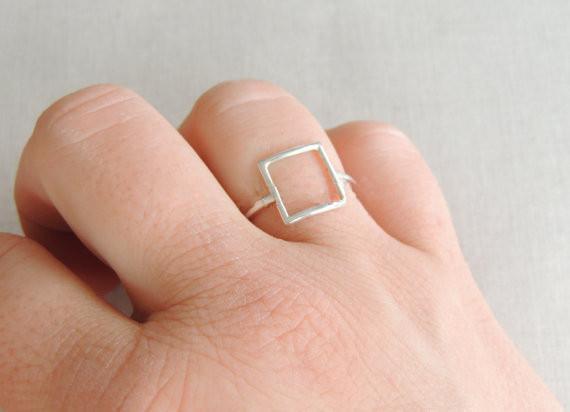 Minuti oro / argento / oro rosa punk regalo anello quadrato gli amici e unica JZ112 gioielli vacanza joint miglior regalo