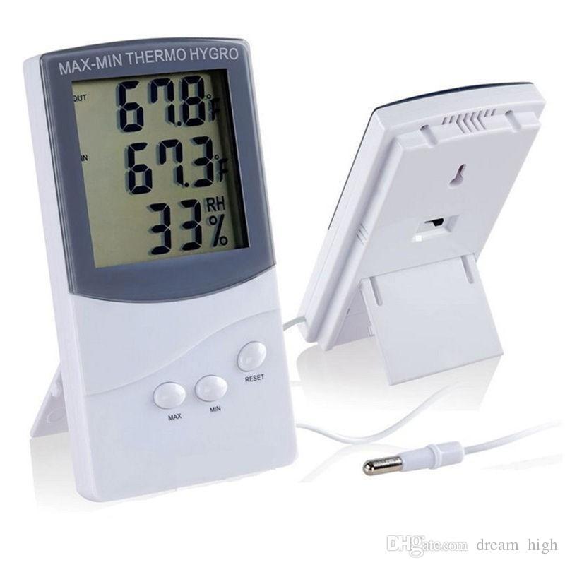 KTJ TA318 LCD digitale LCD digitale / termometro esterno igrometro Hygrometer temperatura umidità THERMO HYGRO Meter Meteo Stazione di alta qualità