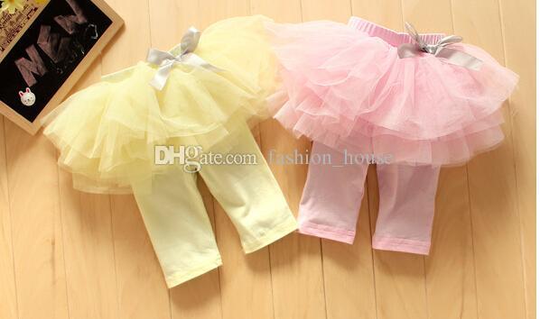 Gonna TUTU estiva bambina i Gonna Pantalone bambina con fiocco carino Pizzo medio Gonna pantalone blu rosa giallo bambina leggings