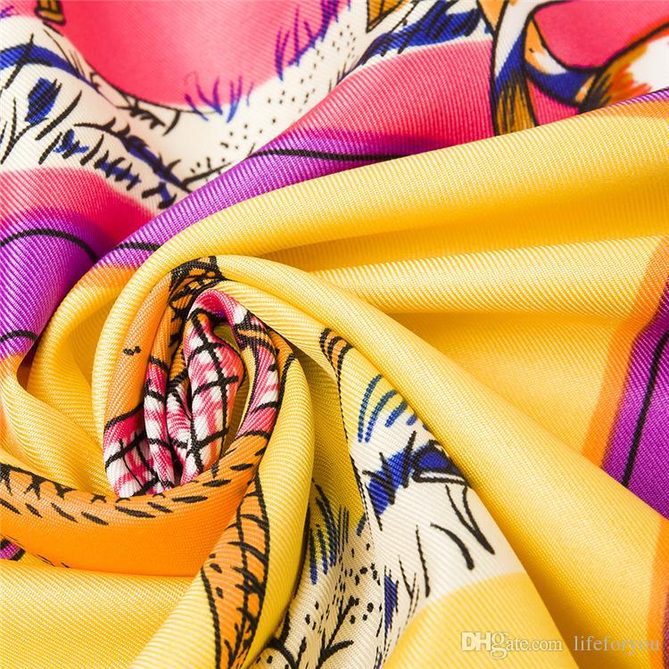 House Printing Scarf Kerchief fashion Scarves women ladies top grade muffler long Silk Chiffon Bandanna Wrap Shawl