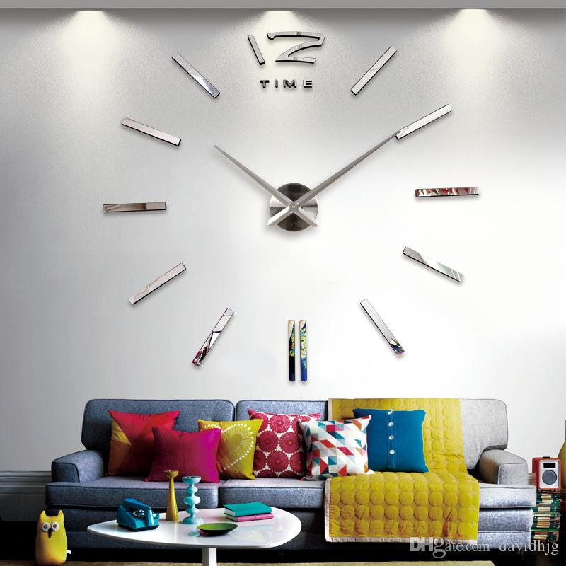 Original Brand Home Decoration Wall Clock Big Cat Feet Mirror Wall Clock  Modern Design Large Size Diy Wall Sticker Unique Gift Vintage Wall Clock  Vintage ...