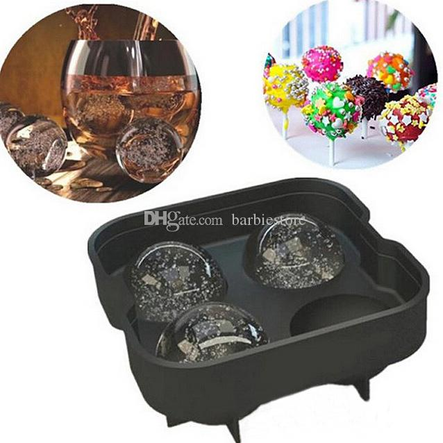 Runde Bar Silikon Whisky Eiswürfel Ball Maker Mould Sphere Mould Party Tray E00138 BARD