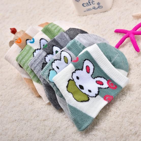 2018 nouvelle arrivée enfants tricotés coréen chaussettes bébé de bande dessinée chaussettes animaux chaussettes de coton doux pour les enfants