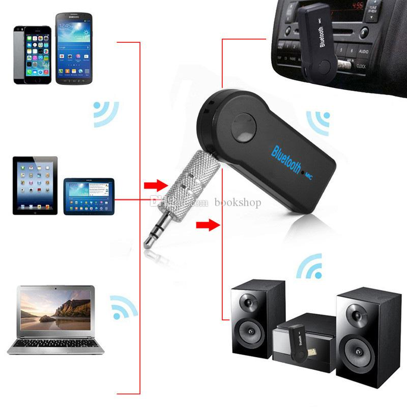 Universal 3.5mm Bluetooth Car Kit A2DP Wireless AUX Audio Music Receiver Adapter Handsfree with Mic For Phone MP3