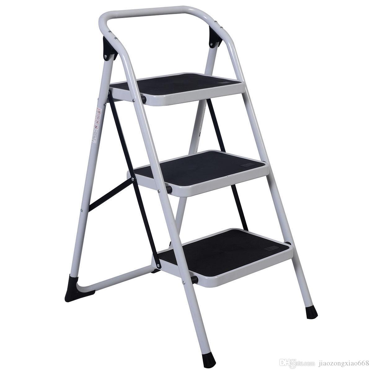 Best 3 Step Ladder Folding Non Slip Safety Tread Heavy
