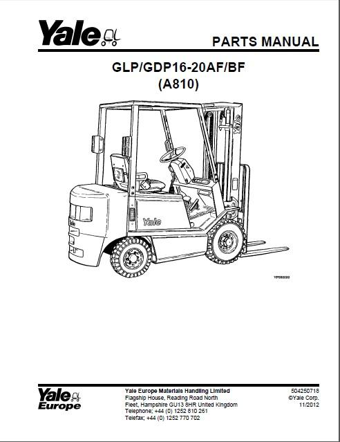 new yale spare parts pdf 2016 for euro electronic