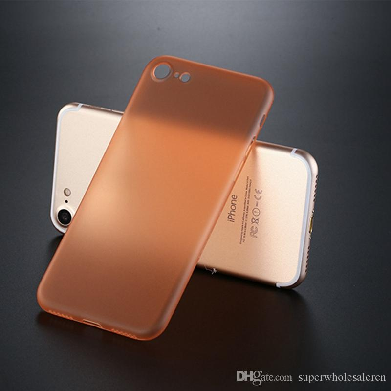 Amvykal için iphone XR X XS Max SE 5 6 7 8 Artı Vaka Ultra ince 0.3mm Yumuşak PP Şeffaf Mat Koruyucu Kapak