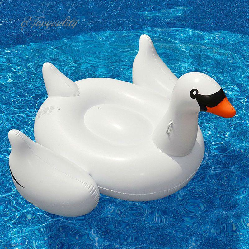 Blanco Nuevo lago de verano Piscina de natación Piscina de agua para niños Gigante Cazador cisne inflable Juguete flotador de buena calidad